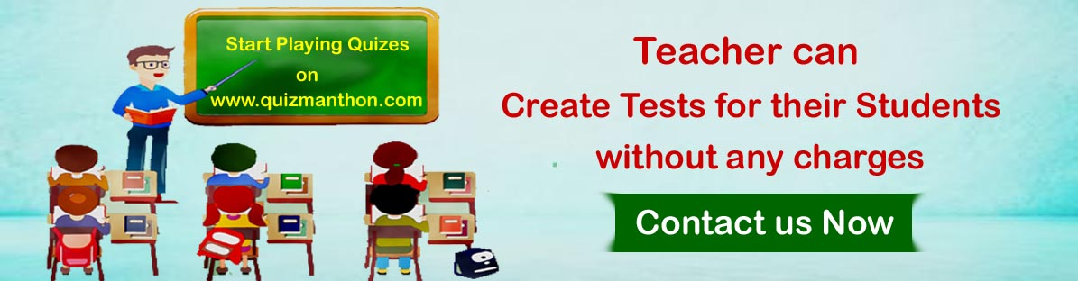 Teacher can create tests on www.quizmanthon.com